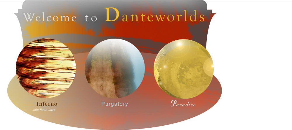 Introduction to Danteworlds - links for Inferno, Purgatorio, Paradiso